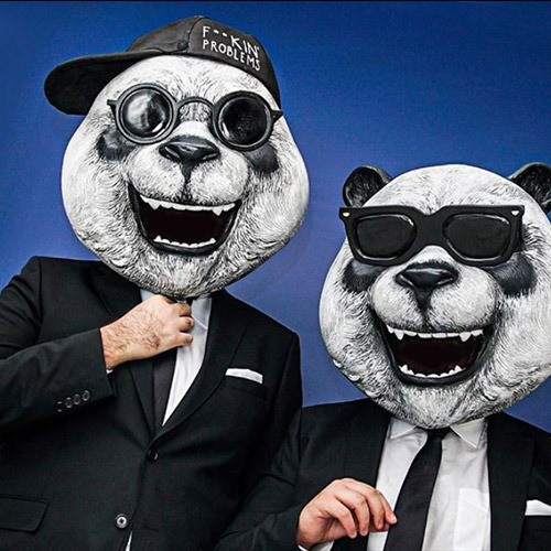 suit and panda
